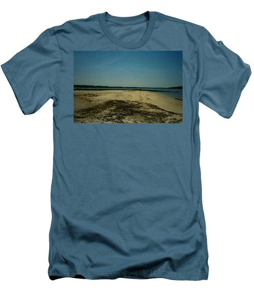 Men's T-Shirt (Slim Fit) featuring the photograph Rehoboth Bay Beach by Amazing Photographs AKA Christian Wilson