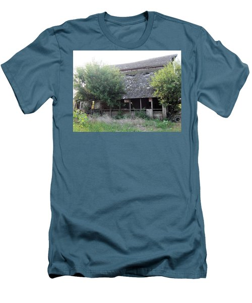 Men's T-Shirt (Slim Fit) featuring the photograph Retired Barn by Bonfire Photography