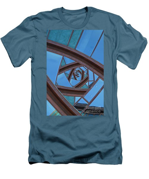 Men's T-Shirt (Slim Fit) featuring the photograph Revolving Blues. by Clare Bambers