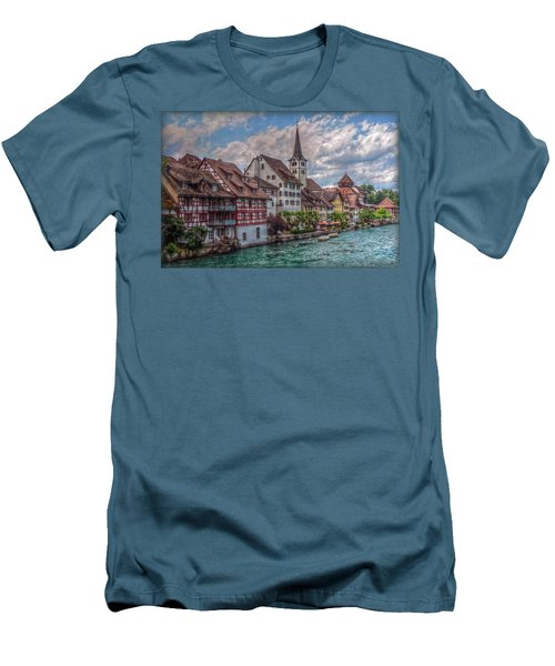 Men's T-Shirt (Slim Fit) featuring the photograph Rhine Bank by Hanny Heim