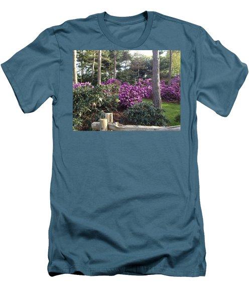 Rhododendron Garden Men's T-Shirt (Slim Fit) by Pema Hou