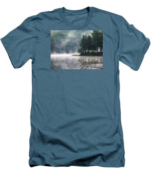 Men's T-Shirt (Slim Fit) featuring the photograph Ridge Road Morning Mist by Joy Nichols