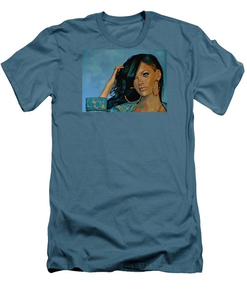 Rihanna Painting Men's T-Shirt (Athletic Fit)