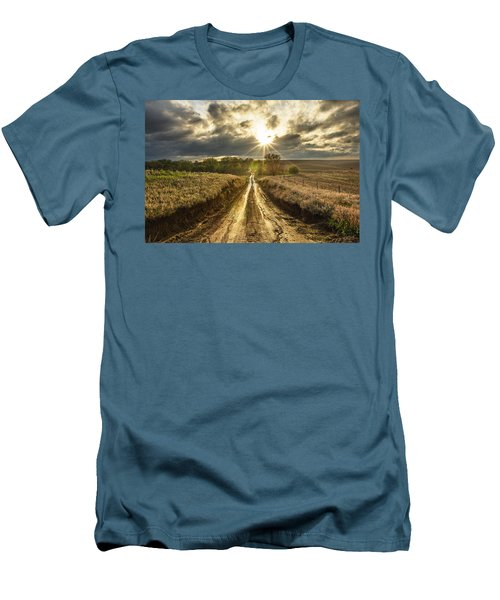Road To Nowhere Men's T-Shirt (Slim Fit) by Aaron J Groen