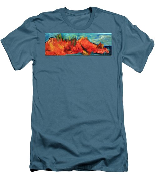 Roasted Rock Coast Men's T-Shirt (Slim Fit) by Elizabeth Fontaine-Barr
