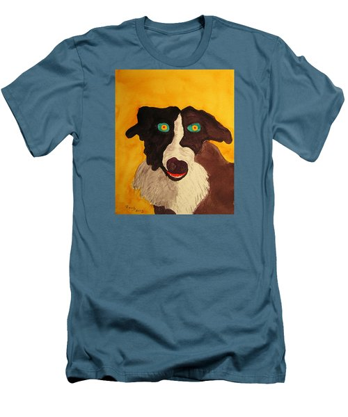 Men's T-Shirt (Slim Fit) featuring the painting The Storyteller by Rand Swift