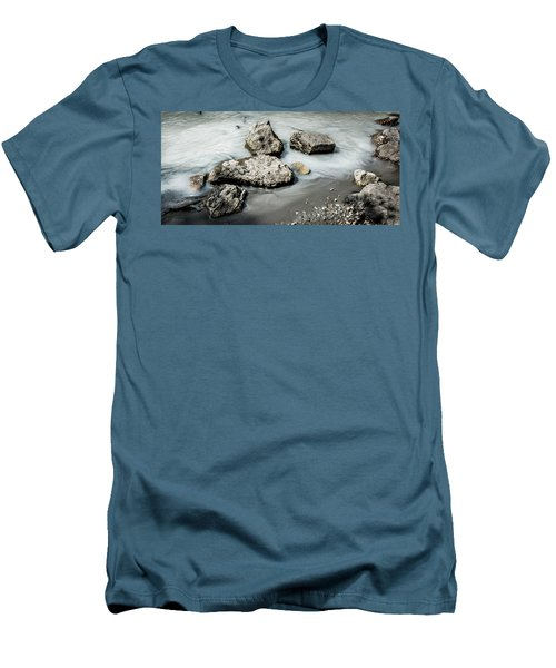 Rocks In The River Men's T-Shirt (Slim Fit) by Andrew Matwijec