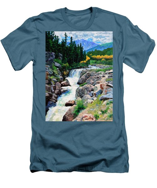 Rocky Mountain High Men's T-Shirt (Slim Fit) by John Lautermilch