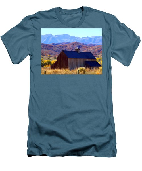 Men's T-Shirt (Slim Fit) featuring the photograph Rocky Mountain Retreat by Jackie Carpenter