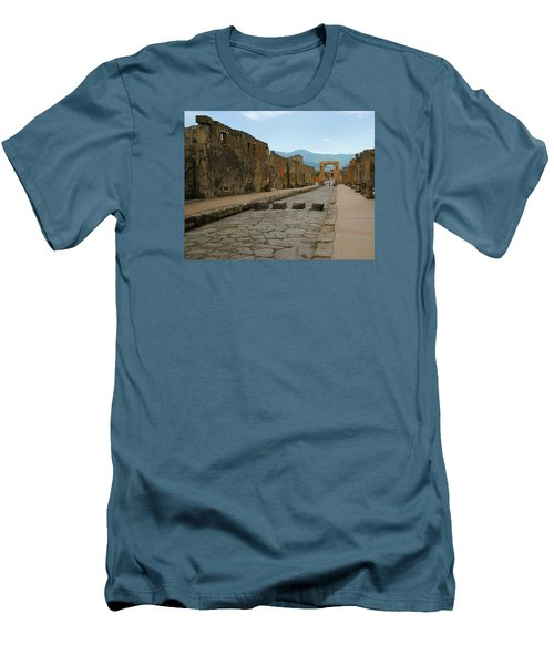 Roman Street In Pompeii Men's T-Shirt (Athletic Fit)