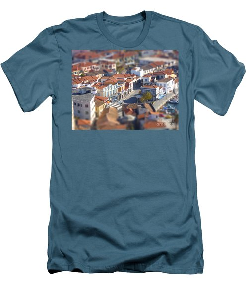 Men's T-Shirt (Slim Fit) featuring the photograph Rooftops by Vicki Spindler
