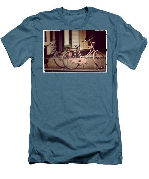 Rose Bike Men's T-Shirt (Slim Fit) by Mary-Lee Sanders