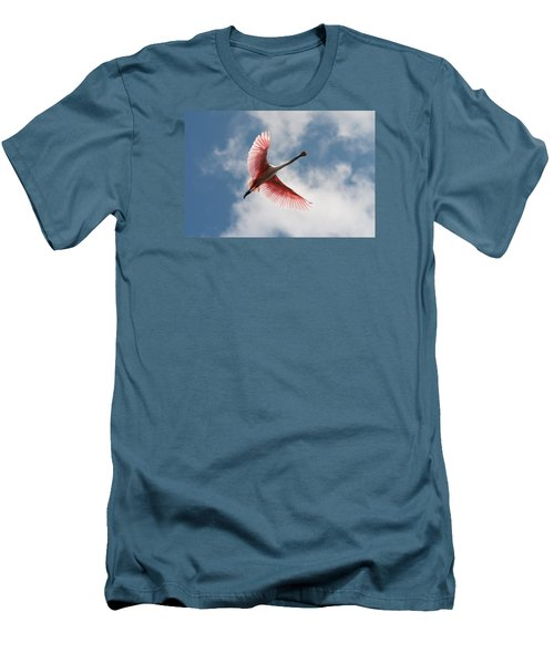 Roseate Soaring Men's T-Shirt (Athletic Fit)