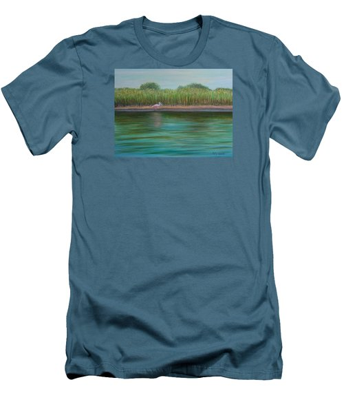 Roseate Spoonbill On East Creek Men's T-Shirt (Athletic Fit)