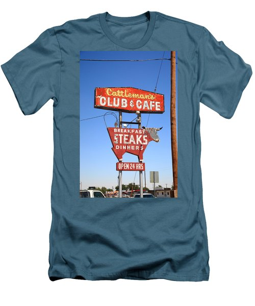 Route 66 - Cattleman's Club And Cafe Men's T-Shirt (Athletic Fit)