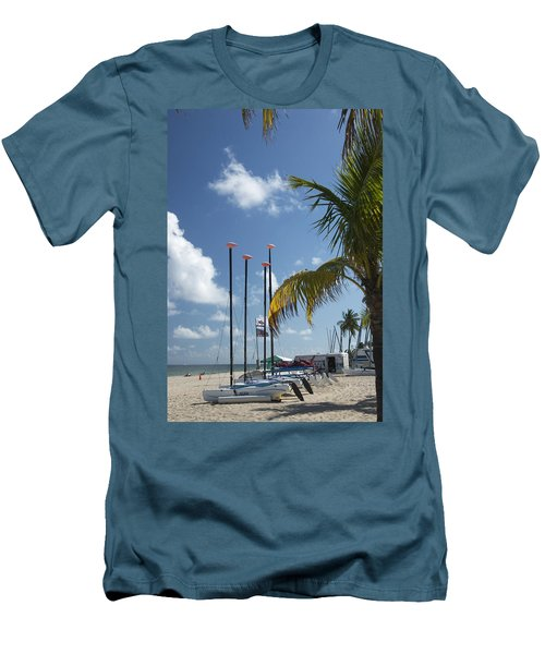 Row Of Sailboats Men's T-Shirt (Athletic Fit)