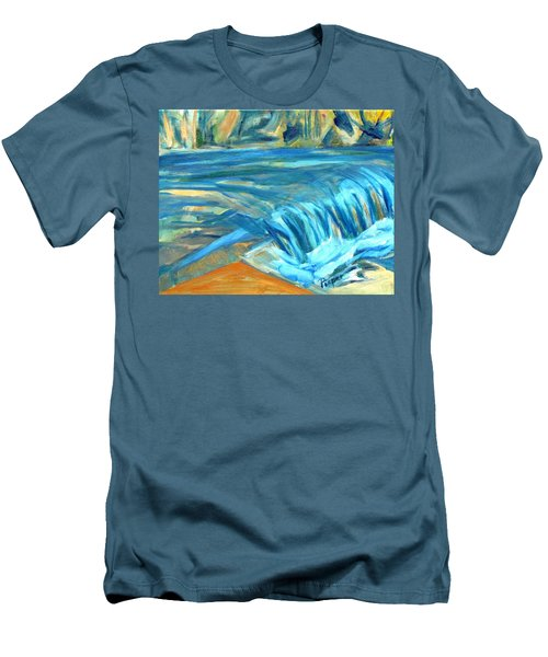 Run River Run Over Rocks In The Sun Men's T-Shirt (Slim Fit) by Betty Pieper