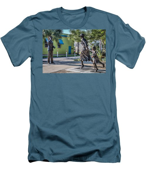 Running For The Train Men's T-Shirt (Athletic Fit)