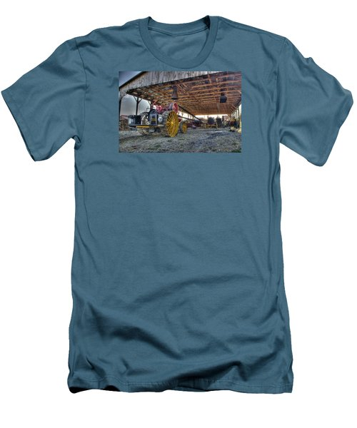 Russell At The Saw Mill Men's T-Shirt (Slim Fit) by Shelly Gunderson