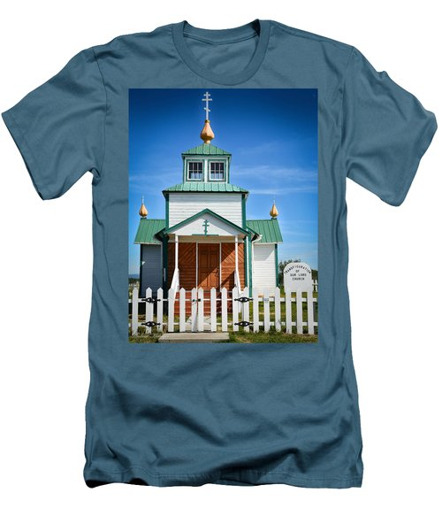 Russian Orthodox Church Men's T-Shirt (Slim Fit) by Andrew Matwijec