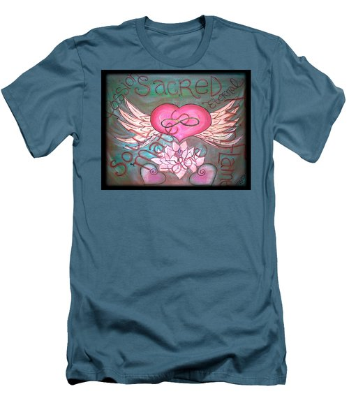 Sacred Soulmates And Twin Flames Men's T-Shirt (Slim Fit) by Absinthe Art By Michelle LeAnn Scott