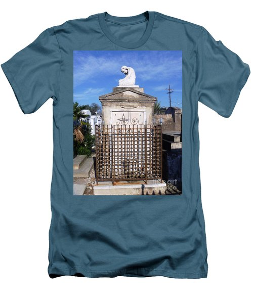 Men's T-Shirt (Slim Fit) featuring the photograph Saddest Statue Tomb by Alys Caviness-Gober