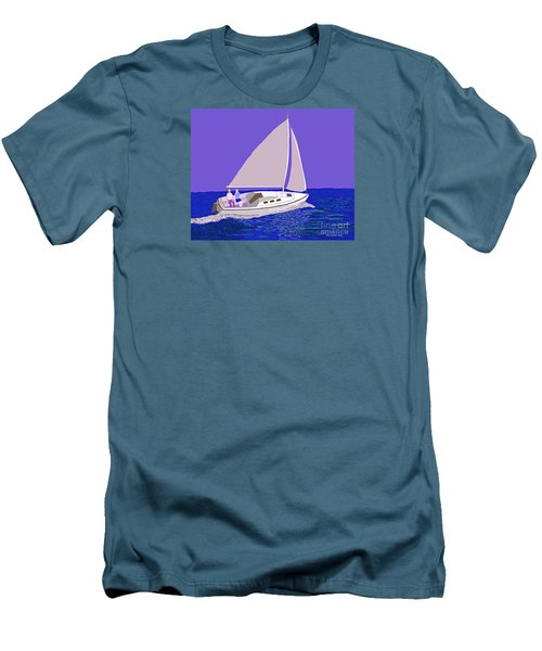 Sailing Blue Ocean Men's T-Shirt (Slim Fit) by Fred Jinkins