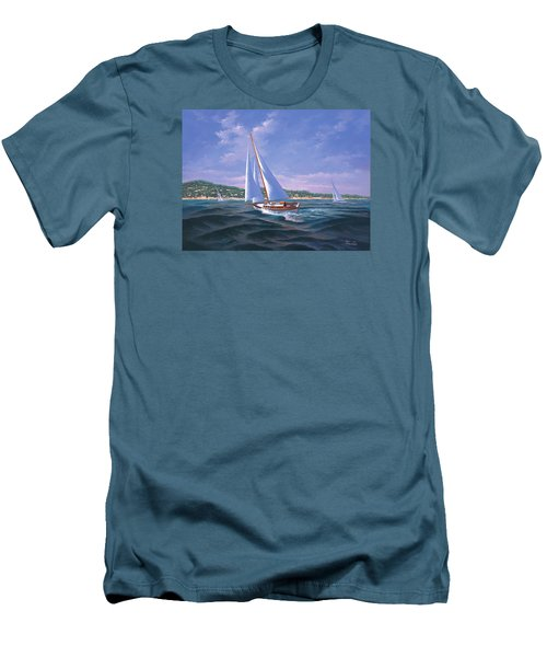 Sailing On Monterey Bay Men's T-Shirt (Athletic Fit)