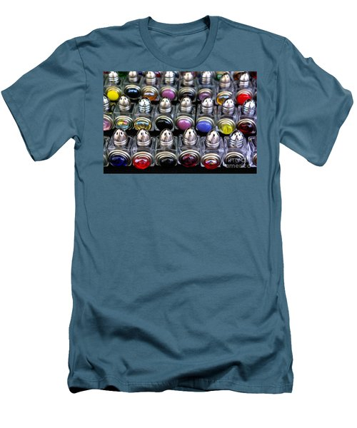 Men's T-Shirt (Slim Fit) featuring the photograph Salt And Pepper Soldiers by John S