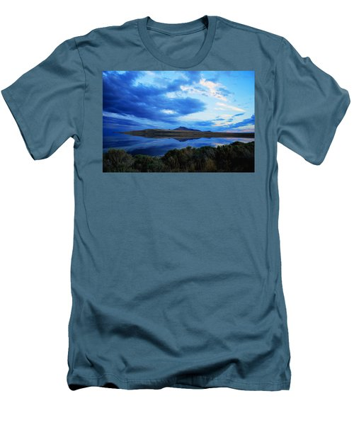 Salt Lake Antelope Island Men's T-Shirt (Slim Fit) by Matt Harang