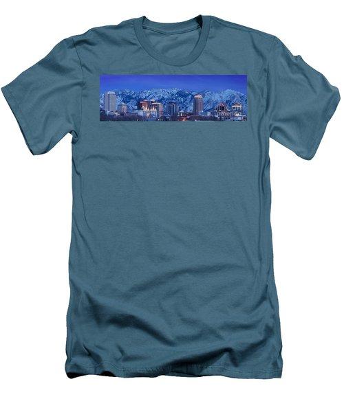 Salt Lake City Skyline Men's T-Shirt (Athletic Fit)