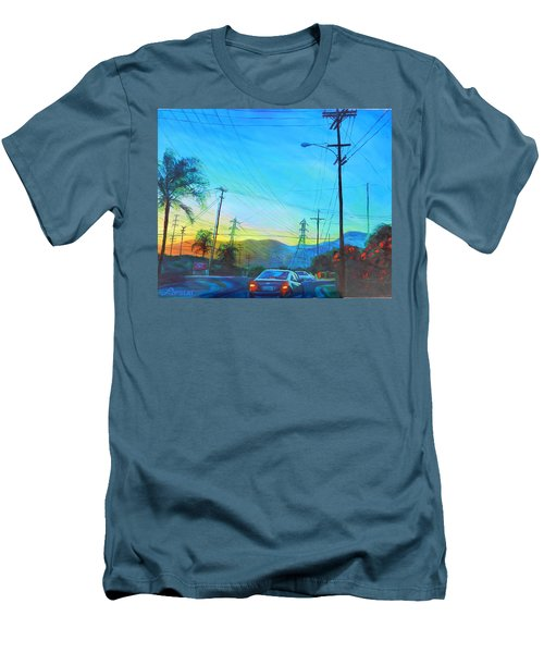 San Gabriel Rush Men's T-Shirt (Slim Fit) by Bonnie Lambert