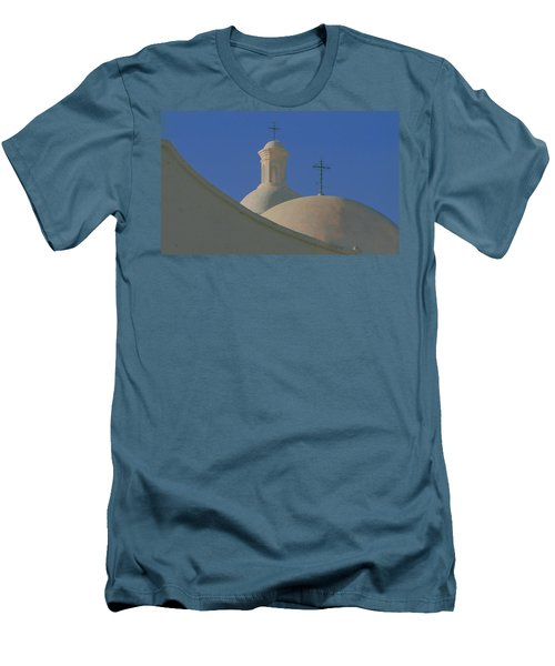 Men's T-Shirt (Slim Fit) featuring the photograph San Xavier Del Bac by Susan Rovira