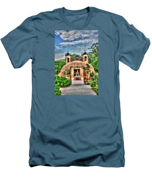 Santuario De Chimayo Men's T-Shirt (Slim Fit) by Lanita Williams
