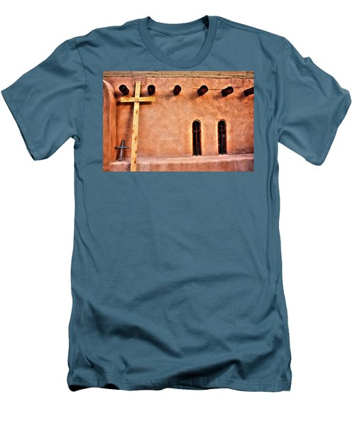 Santuario Four Crosses Men's T-Shirt (Athletic Fit)