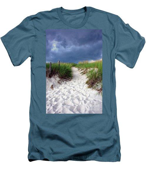 Sand Dune Under Storm Men's T-Shirt (Athletic Fit)