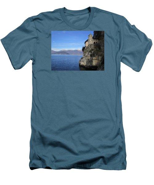 Santa Caterina - Lago Maggiore Men's T-Shirt (Slim Fit) by Travel Pics