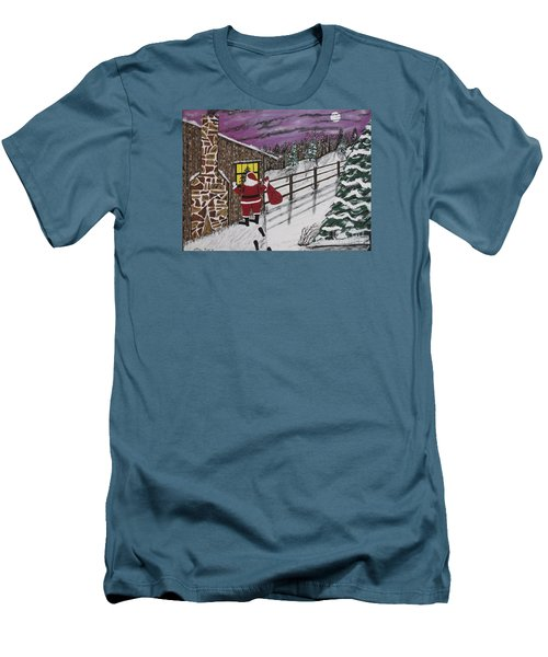 Santa Claus Is Watching Men's T-Shirt (Athletic Fit)