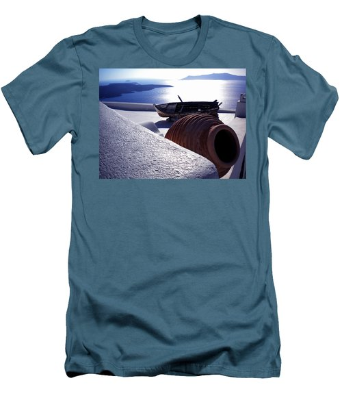 Santorini Island Early Sunset View Greece Men's T-Shirt (Athletic Fit)
