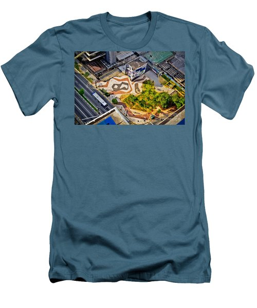 Sao Paulo Downtown - Geometry Of Public Spaces Men's T-Shirt (Athletic Fit)