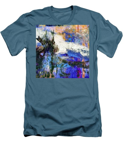 Men's T-Shirt (Slim Fit) featuring the painting Sausalito by Dominic Piperata
