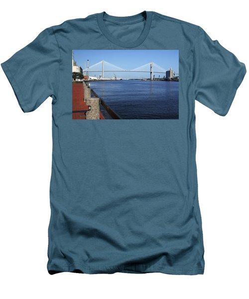 Savannah River Bridge Ga Men's T-Shirt (Athletic Fit)