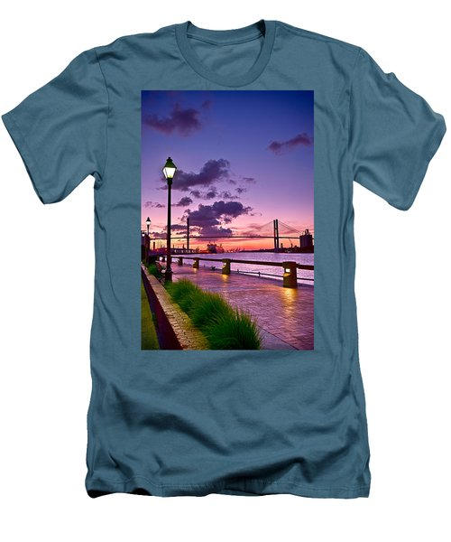Savannah River Bridge Men's T-Shirt (Athletic Fit)