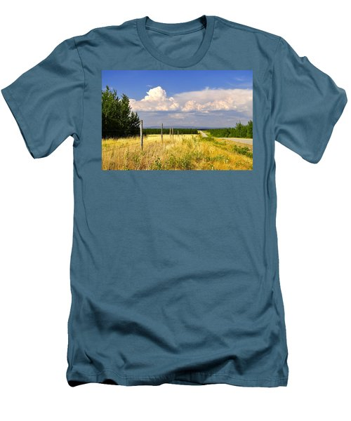 Men's T-Shirt (Slim Fit) featuring the photograph Sawmill Creek Road by Cathy Mahnke