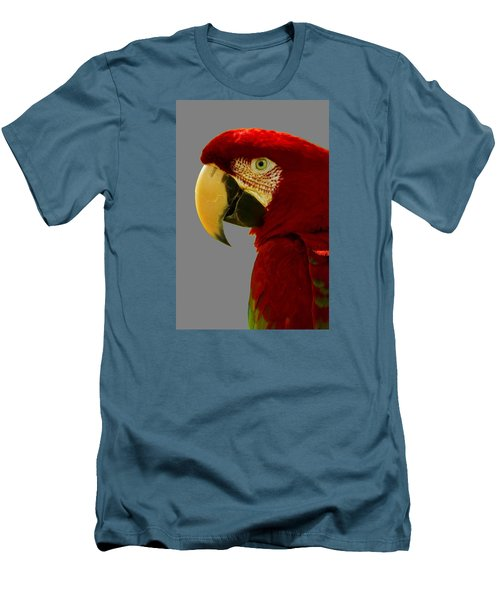 Men's T-Shirt (Slim Fit) featuring the photograph Scarlet Macaw by Bill Barber