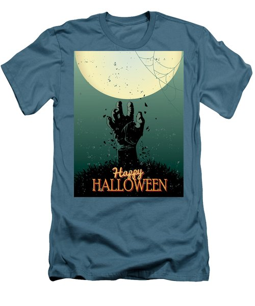 Men's T-Shirt (Slim Fit) featuring the painting Scary Halloween by Gianfranco Weiss