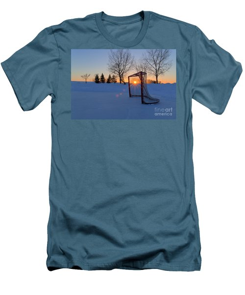 Scoring The Sunset Men's T-Shirt (Slim Fit) by Darcy Michaelchuk