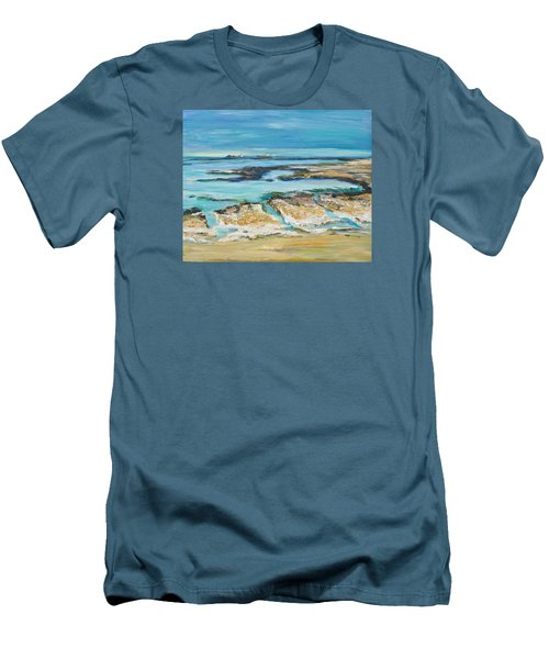 Sea Sky And Beach Men's T-Shirt (Athletic Fit)