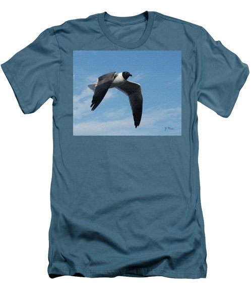 Seagull In Flight Men's T-Shirt (Slim Fit) by James C Thomas