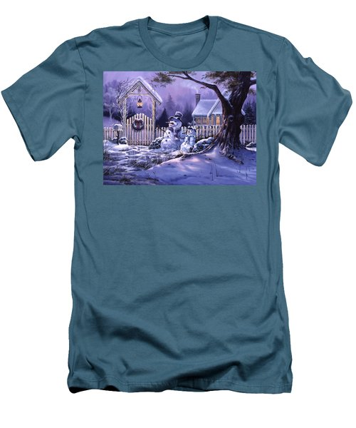 Season's Greeters Men's T-Shirt (Slim Fit) by Michael Humphries